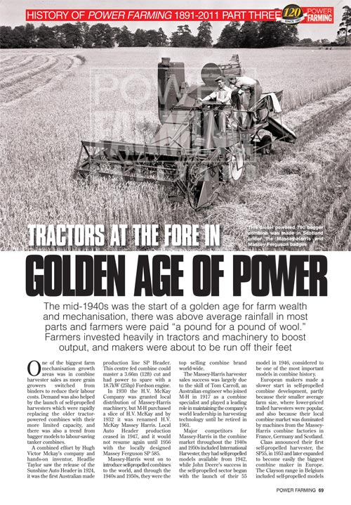 History of Power Farming since 1891 Part 3