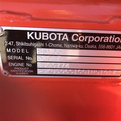 Photo 5. KUBOTA SSV65 skid steer loader
