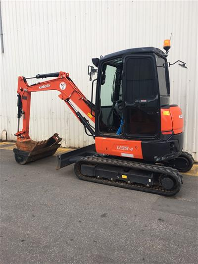 Photo 1. Used Kubota U35-4G Excavator