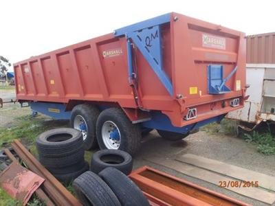 Marshall 16 ton Tipping Grain Trailer