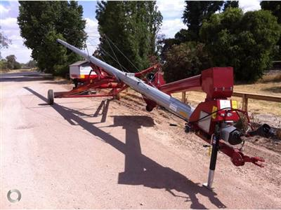 Photo 1. HUTCHINSON 72 FOOT BY 10 INCH SWING AWAY auger