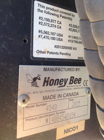 Honey Bee 4540 harvester front