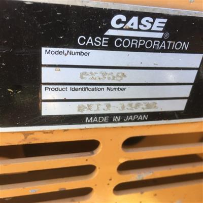 Photo 5. CASE CX36 excavator