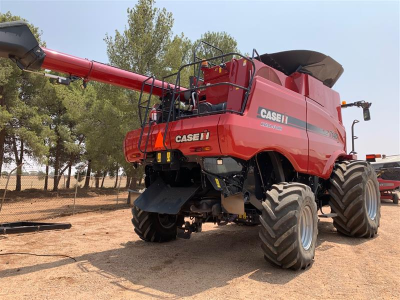 Photo 4. Case IH 7140 Axial Flow Combine & 3152 40ft Front