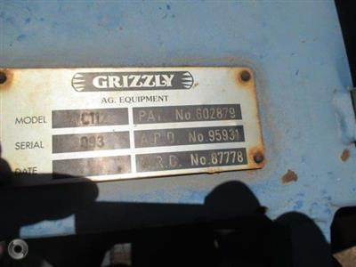 Photo 3. GRIZZLY 112 WEST COASTER cultivator