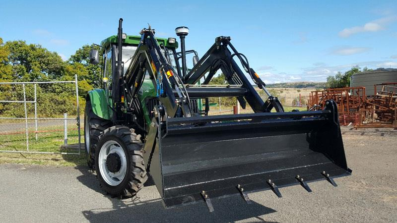 Agking TZ08 front end loader with quick release 4 in 1 bucket