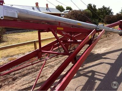 Photo 5. HUTCHINSON 72 FOOT BY 10 INCH SWING AWAY grain auger