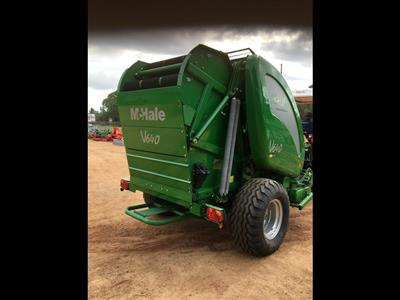 Photo 2. MCHALE V640 round baler