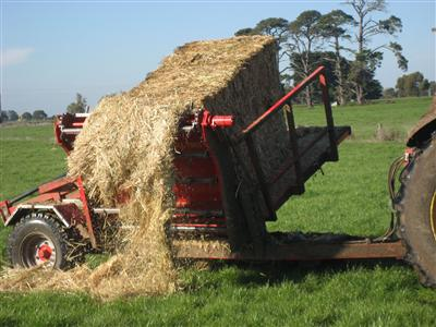 Photo 2. Pa-Mick hay and silage feeder